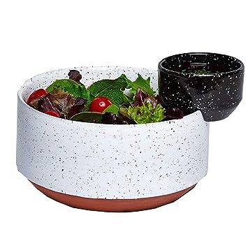 Moderne Schwarz und Weiß Solar Lunar Eclipse handbemalt Keramik ...
