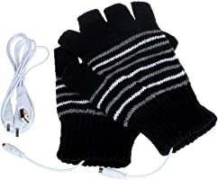 XWU Winter Gloves Breathable Knitted Heating Gloves with 5V Knitting Battery Powered Winter Warmer