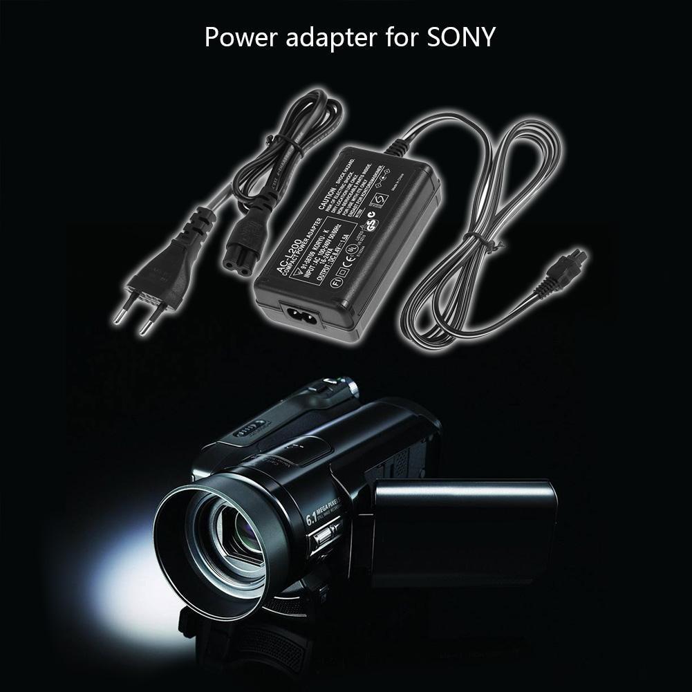 Demiawaking 100V-240V AC Adattatore di Alimentazione Caricatore per Videocamera per Sony AC-L200 L25B Fotocamera DSLR