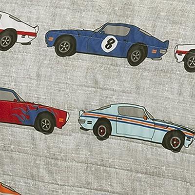 Lush Décor Race Cars 2 Piece Reversible Quilt Kids Bedding Set, Twin, Blue/Orange: Home & Kitchen