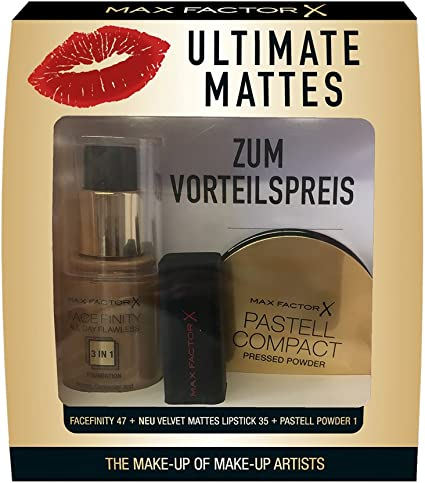 Set Max Factor de maquillaje mate (Base Facefinity AllDayFlawless ...