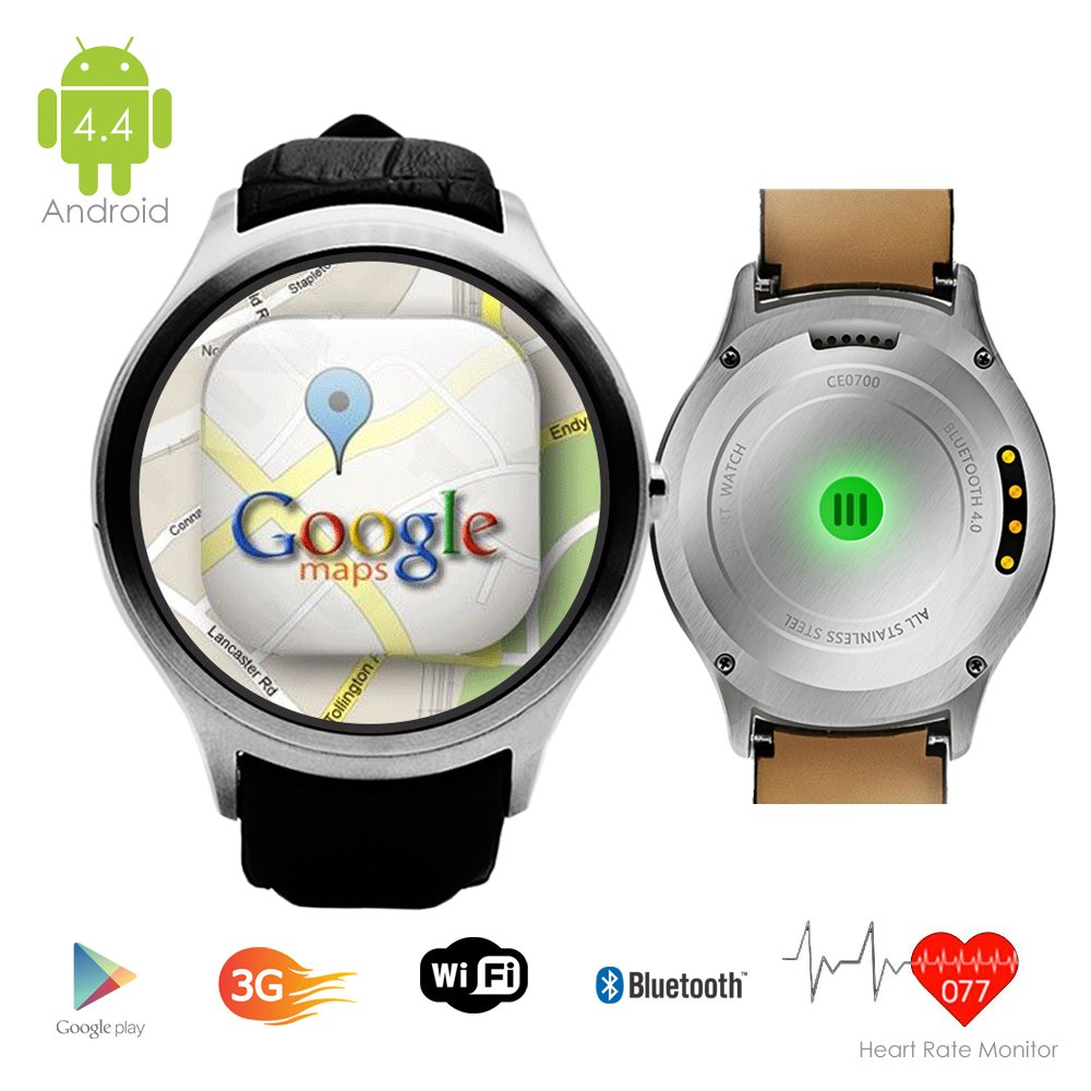 Indigi UNLOCKED! Android 4.4 Smart Watch Cell Phone GSM 3G+WiFi GPS Google Play Store Smart Watches Unlocked Smartphone