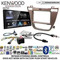 Volunteer Audio Kenwood DMX7704S Double Din Radio Install Kit with Apple CarPlay Android Auto Bluetooth Fits 2011-2013 Buick Regal (Brown)