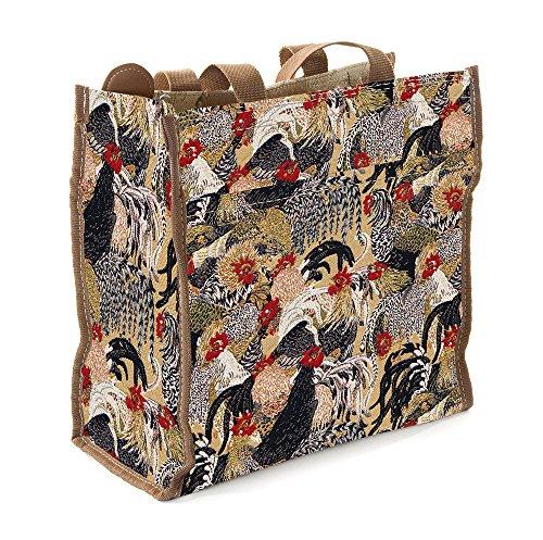 Signare Einkaufstasche (klein) City-Shopper (Gobelin Stil) Rooster