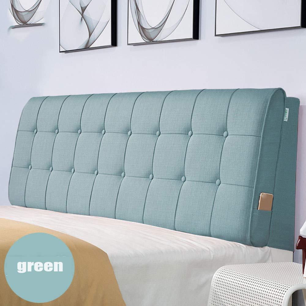 ZGYQGOO Gepolstertes Kopfteil Kopfteil Kissen Sofa Große Doppelbetten Zurück Haushalt Waschbar(Mit Kopfteil), C-90 * 60cm