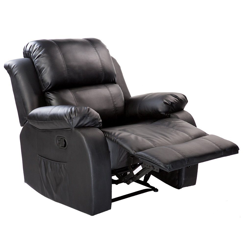 Merax Power Massage Reclining Chair with Heat and Massage Heated Vibrating Massage Recliner