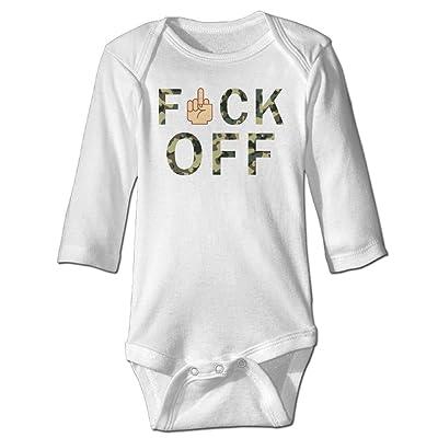 7r4e Baby Fuck Off Infant Cotton Cute Jumpsuit Long-Sleeve Bodysuit