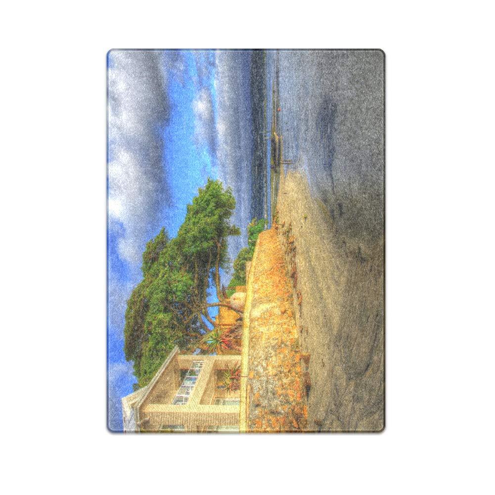 Romantic Simple COLORSFORU a Cozy Seaside Hotel Custom Fleece Blanket 58x 80 Inch Large