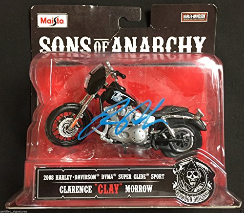 RON PERLMAN CLAY MORROW SIGNED SONS OF ANARCHY HARLEY DAVIDSON MOTORCYCLE COA K2 (Sons Of Anarchy Figurines)