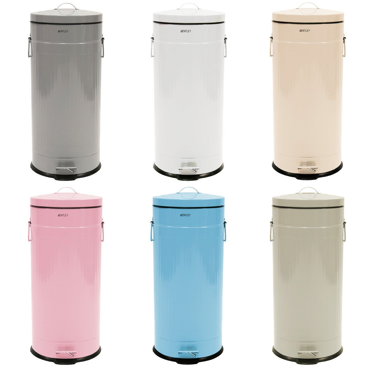 Charles Bentley Home 30L Retro Steel Waste Rubbish Kitchen Pedal Bin   Pale  Green (More Colours Available): Amazon.co.uk: Kitchen U0026 Home