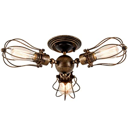 Ceiling Light Retro Metal Ceiling Lamp Industrial Edison ...