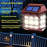 Mohteberli 5 Pack Solar Powered Deck Lights Automaticaly Lights Up At night Time