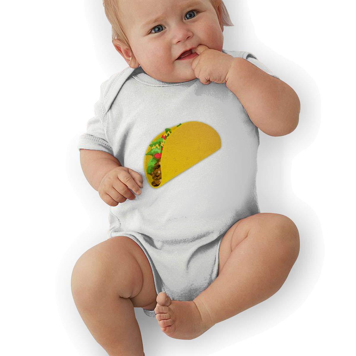 Newborn Baby Girls Bodysuit Short-Sleeve Onesie Taco Print Outfit Summer Pajamas