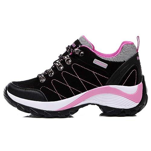 5b4e9625f97e39 Plateforme Compensée Femmes Sneakers Durable Dames Plat Printemps Automne À  Lacets Flock Mesh Confortable Chaussures Casual