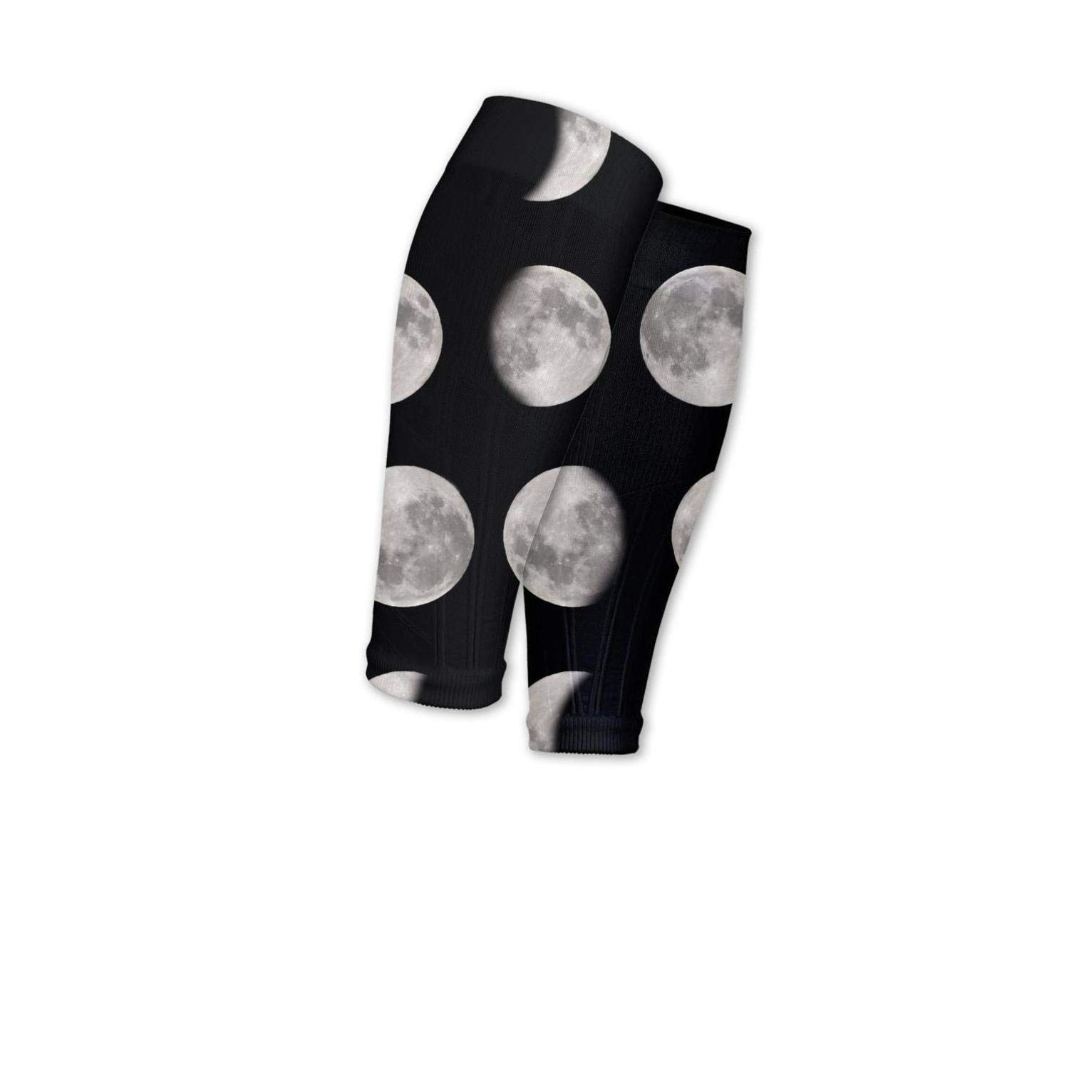 Smilelolly Moon Phase Calf Compression Sleeves Helps Calf Guard Leg Sleeves for Men Women
