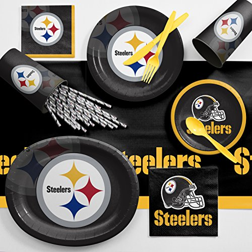 Creative Converting Pittsburgh Steelers Ultimate Fan Party Supplies