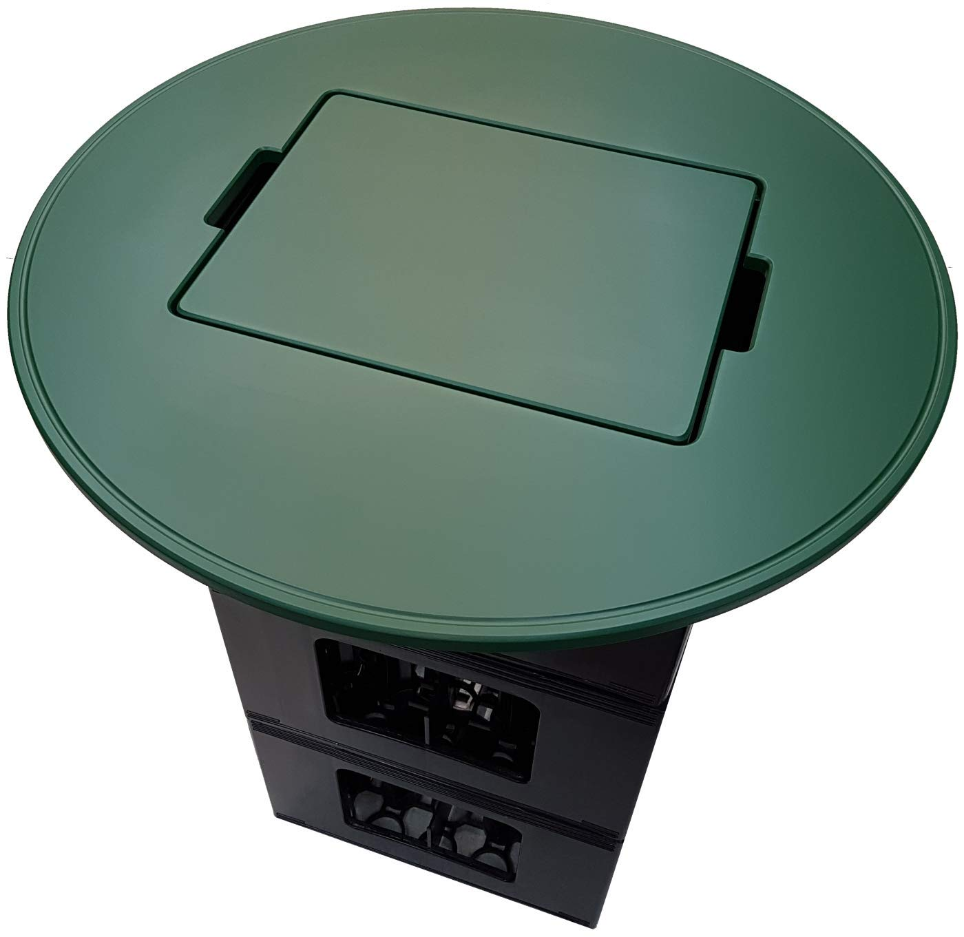 Tisch und Sitzkissen für Jever Veltins Beck's Haake Beck Diebels Wicküler Barre Hasseröder Kisten (Kombi-Set, Tisch und 2X Sitzkissen grün) BierEx