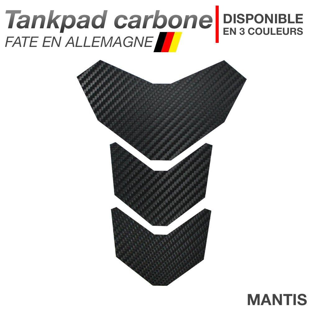 Motoking Tankpad carbone 'MANTIS' - ré servoir de la moto et de la protection de la peinture, universel - disponible en 3 couleurs - NOIR