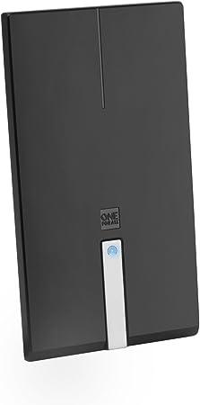 One For All SV9425, Antena de TV para Interior Amplificada, Recibe TDT en un Rango de 25km, Antena HDTV Digital, Incluye Cable Coaxial de Alto ...