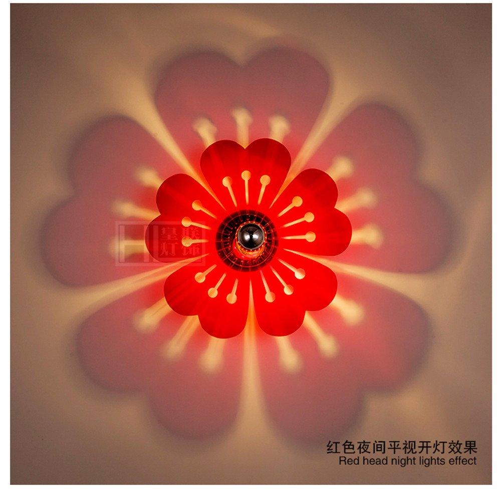 JhyQzyzqj Wandleuchte Wandbeleuchtung Wandlampe Nachttischlampe Spiegellicht Wohnzimmer Amerikanisches rustikales Schlafzimmer Nordisches Wohnzimmer led Acryl Wand leuchtet rot