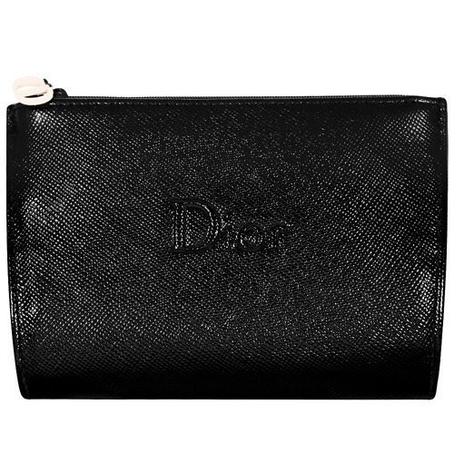 Dior Beaute Counter Gift - Black Faux Leather Cosmetics Makeup Toiletry/Coin Case Pouch Bag - (see (Dior Pouch)