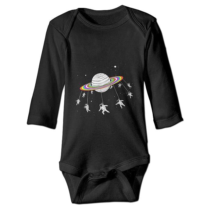 152bfe4581fc Amazon.com  Thoreau Holmes Astronauts Planet Space 100% Organic Cotton  Unisex-Baby Infant Long Sleeve Onesies Bodysuits Romper  Clothing