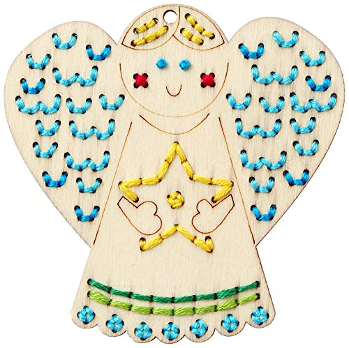 Bucilla Handmade Wood Stitchable Kit, 3 by 3-Inch, 86559 Shapes (Set of 8)