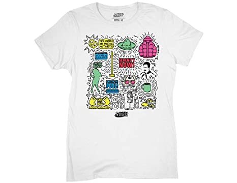 58897a6b087a Ripple Junction Seinfeld Womens Icon Doodle Light Weight 100% Cotton Crew T- Shirt SM