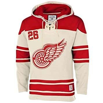 2373318dc1b Old Time Hockey Detroit Red Wings Lace Up Jersey Hoodie NHL Sweatshirt  White XL