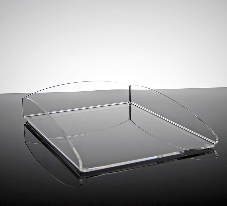 Vaschetta porta documenti e corrispondenza da scrivania per ufficio in plexiglass trasparente Algol