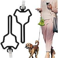 2 PCS Dog Poop Bag Holder, Waste Bag Holder, Dog Poop Bag Carrier, Hand Free Waste Bag Holder, Dog Waste Bag Carrier…