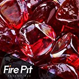 1' Diamond Shaped Fire Glass for Indoor or Outdoor Fire Pit or...