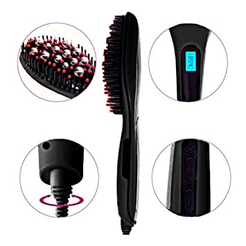 Efloral Brush Hair Straightener ,Detangling Hair Brush for Faster, Instant Magic Silky Straight Hair
