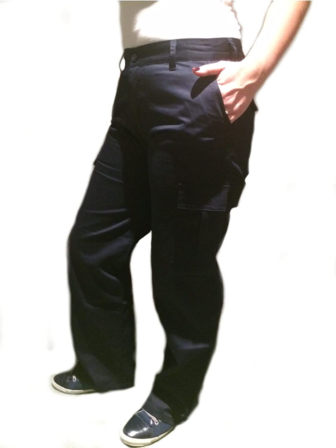 discount shop size 7 lowest price Ickworth Ladies Womens Cargo Combat Work Wear Trousers Pants Black or Navy  Size 8-20 Workwear Girls Female