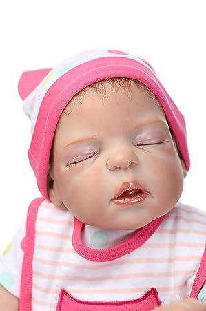 Amazon.es: ZIYIUI 45 cm Realista Muñecos Bebé Muñeca de Silicona ...