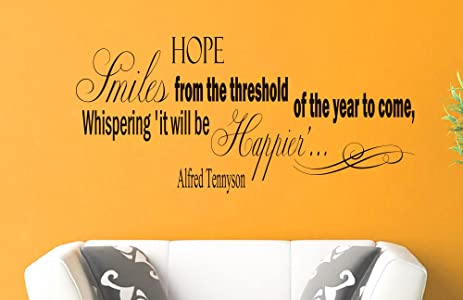 Wall Vinyl Decal Quote Sticker Home Decor Art Mural Hope Smiles from ...