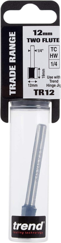 TR37 x 1//2 TCT Two Flute Cutter Long Shank 12 x 63mm Trend