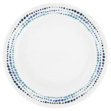 Corelle Livingware Ocean Blues 8.5  Lunch Plate (Set of 8)
