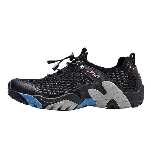 7025f245e1539 Yiiquan Hombre Verano Calzado Deportivo al Aire Libre Zapatos de Agua  Zapatillas de Playa Secado Rápido