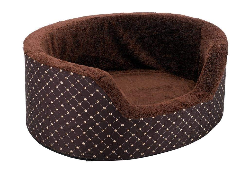 Doggy Dreams High Dog Bed 77 x 68 cm Brown