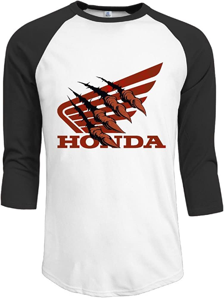 iwanna Hombres de la Honda Logo con Pinza para 3/4Manga béisbol Camisetas/T