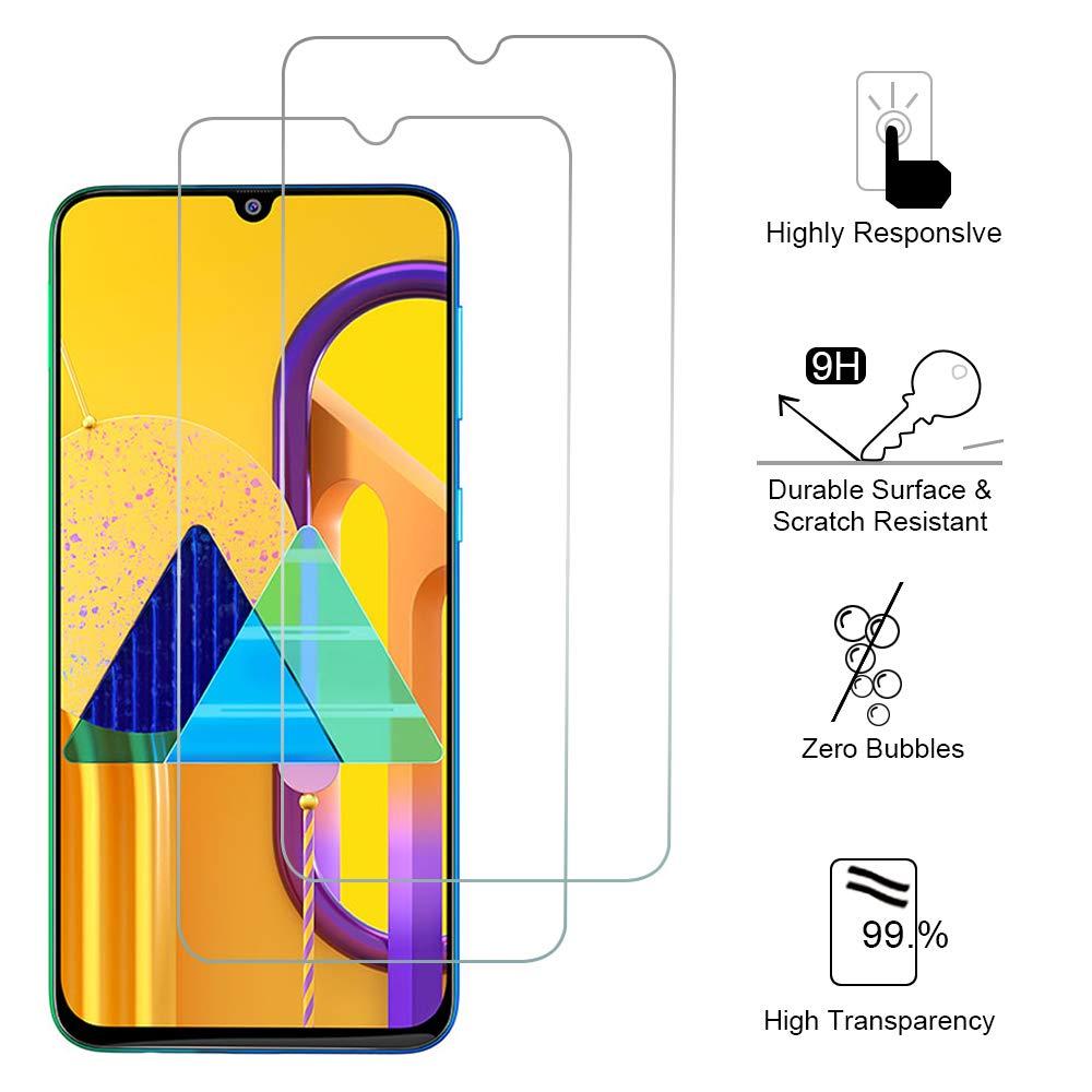 Siumir 2 St/ück Tempered Glass Screen Protector f/ür Samsung Galaxy M30s 6.38 9H H/ärte Displayschutz Schutzfolie Anti-Kratzer Blasenfrei