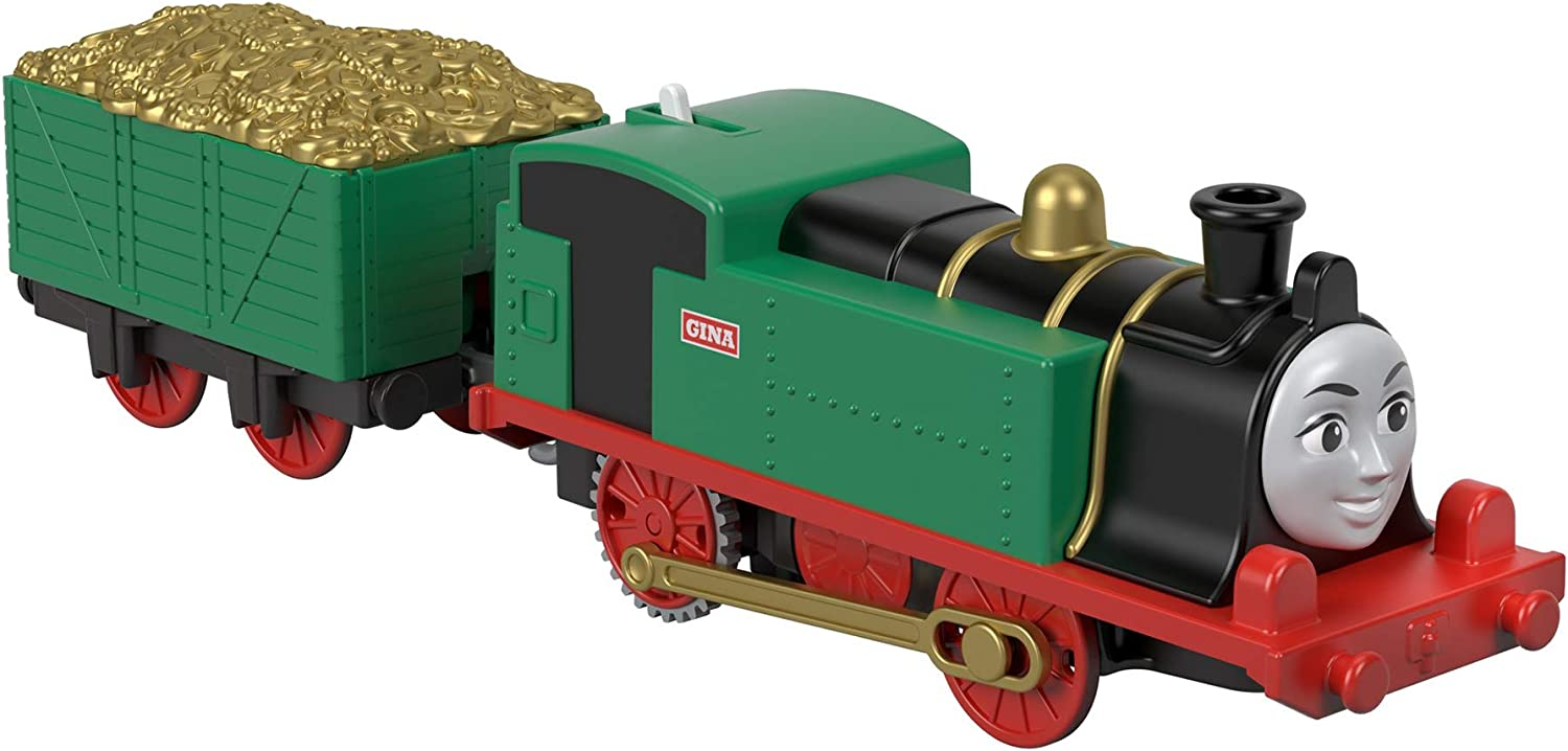 Thomas & Friends Fisher-Price Trackmaster Gina, Motorized Toy Train Engine for preschoolers Ages 3 Years and Older