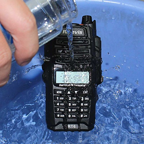 Retevis RT6 2 Way Radio IP67 Waterproof and Dust Proof Dual Band VHF/UHF 136-174Mhz/400-520Mhz 5/3/1W Ham Radio with Waterproof Earpiece (5 Pack) and Programming Cable (1 Pack) by Retevis (Image #8)
