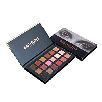 Eye Shadow Back To Search Resultsbeauty & Health Beauty Glazed 18 Color Eyeshadow Palette Glamorous Smokey Eye Shadow Shimmer Makeup Kit Makeup Palette Shimme Professional Long