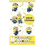 サンスター文具 ミニオン 2019年 カレンダー 壁掛け 61×35cm