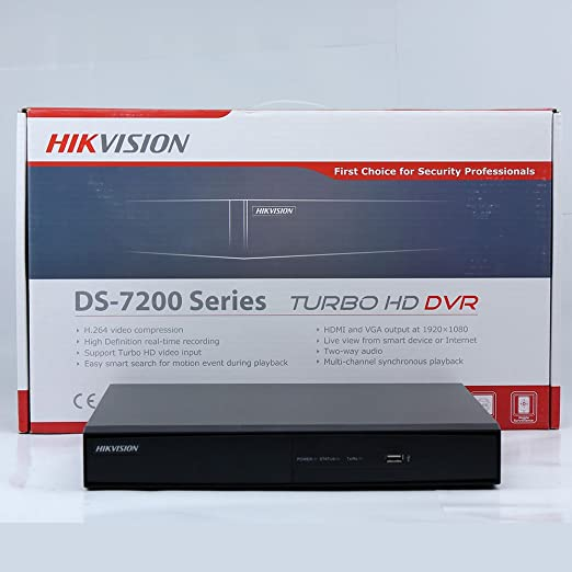 Amazon.com : Hikvision DS-7208HQHI-F1/N DVR, 8 Channel TVI, Black Turbo HD : Camera & Photo