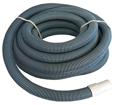 "Swimming Pool Commercial Grade Vacuum Hose 1.5"" - 50' Length with Swivel End by SUNSOLAR"