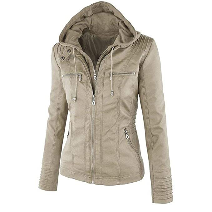 Benlet Women Casual Hooded Long Sleeve Double Zip Jacket ...