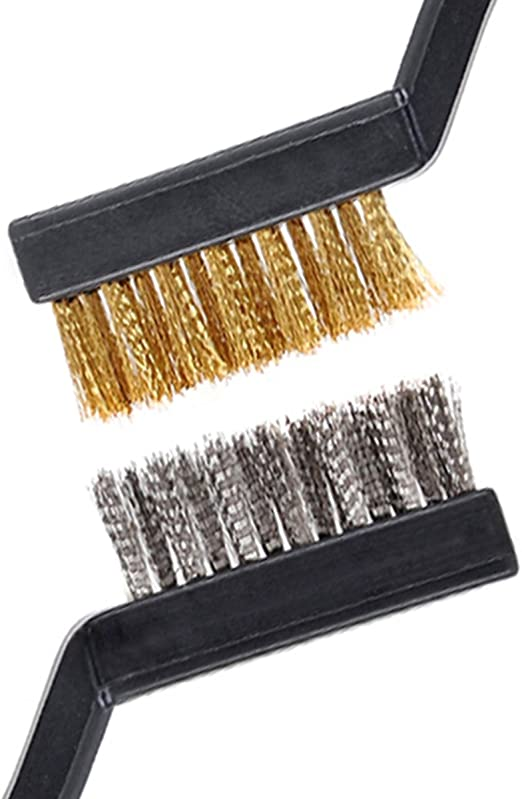"PACK OF 24 Tough Steel Bristle Wire Brush 10/"" Curved Hand Tool Remove Rust//Paint"
